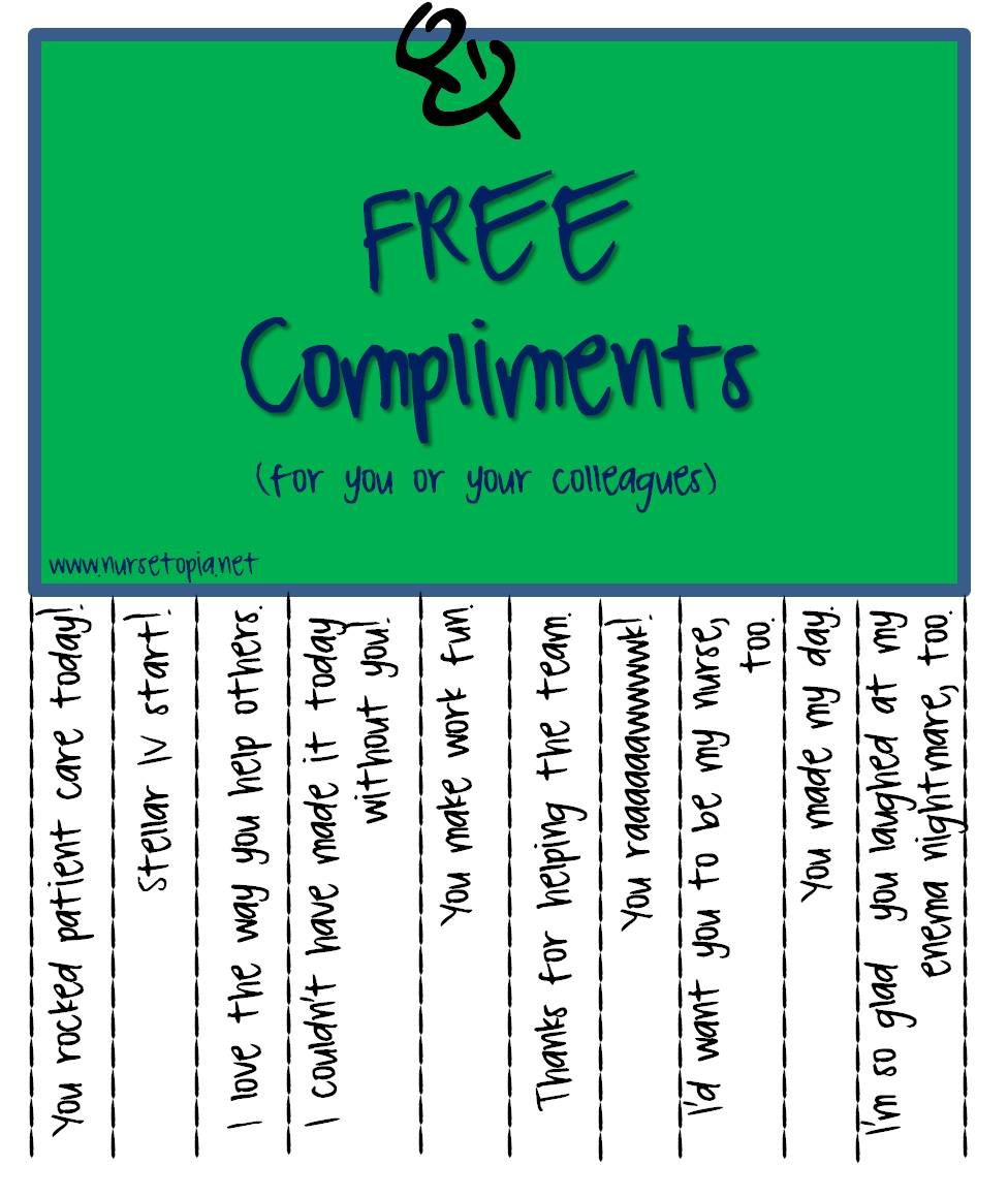 Free Compliments for Nurses – Nursetopia