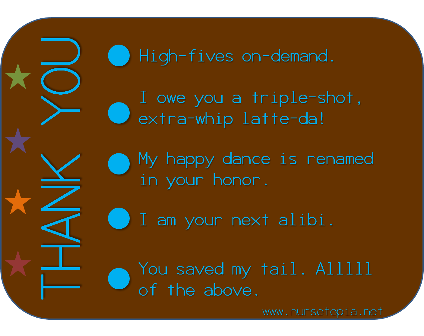 how to thank a nurse wording