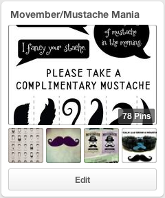 Movember Pinterest Board